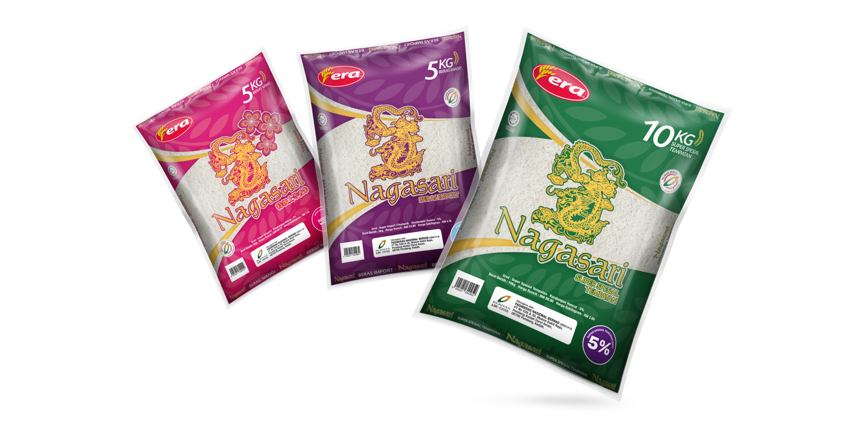 Case Study for ERA: Packaging Design - Rice Packs by 7thlumen